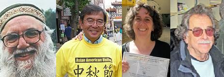 Arthur Waskow, Masaru Edward Nakawatase, the novelist, and Bernie Dinkin