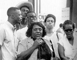 Fannie Lou Hamer in Atlantic City, August 1964