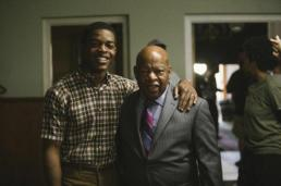 Actor Stephan James with real-life counterpart, Congressman John Lewis