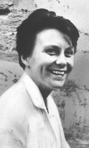 Harper Lee, probably the age of her grown-up Jean Louise Finch.