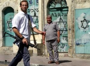 Settler in Old City of Hebron, 2014