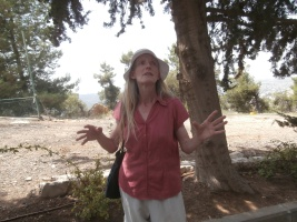 Tamara, our German guide to the twin catastrophes of Shoah and Nakba Catastrophes