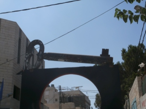 Gate of Aida Refugee Camp in Bethlehem