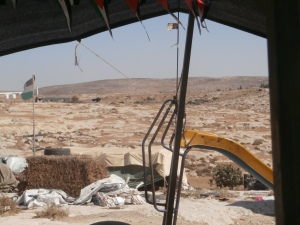 Susiya, in walking distance of archeological site and settlement, August 2015