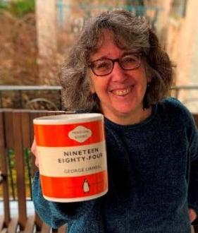 author and book 1984 mug